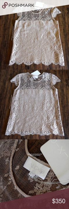 ALEXIS Top Lace Embroidered Scalloped Pia Blouse Women's Size Medium. New with tags.  $286 Retail + Tax.   * Beautiful embroidered lace top featuring lightly frayed raw trim and short sleeves. * Perfect for date night with a romantic feel and vibe.  * Partially lined front leads way to the sheer, open back. Bralette recommended. * Description continues in comment(s) section.   Polyester. Made in the USA.    * Bundle discount: 20% off 2+ items.   * Reasonable offers are considered when…