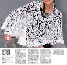Crochet cape PATTERN detailed instructions in by FavoritePATTERNs