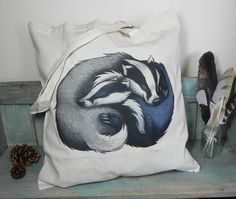 Badgers in love. #etsy #etsyfinds