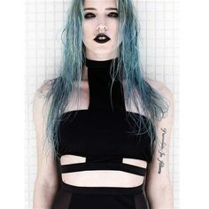 Omen bikini top zwart - Gothic Occult - S - Disturbia