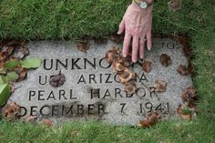 """Always a heart felt moment to find """"unknowns"""" at the National Cemetery of the Pacific (Punchbowl)"""