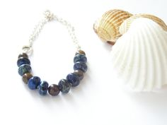Free shipping Casual ocean jasper bracelet on by gembracelet, $20.00