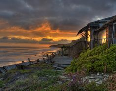 Crystal Cove Cottage Sunset......Sunset over Crystal Cove State Park, located between Newport Beach and Laguna Beach, California