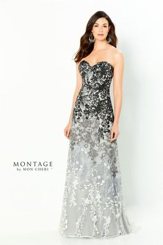 Strapless embroidered lace fit and flare gown, straight neckline, stone accents decorate the bodice and down through the skirt, sweep train. Mother Of Groom Dresses, Mother Of The Bride, Bride Dresses, Wedding Dresses, Wedding Wear, Wedding Attire, Elegant Ball Gowns, Tea Length Dresses, Evening Dresses