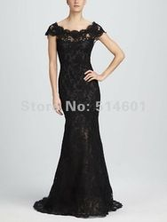Online Shop High Quality Off the Shoulder Floor Lengh Black Lace Evening Dress Mermaid Evening Gown|Aliexpress Mobile