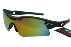Cheap Oakley Radar Sunglasses Black Frame Colorful Lenses $12.97