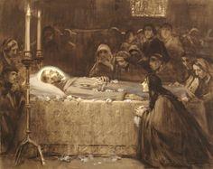 José Benlliure y Gil The death of St. Francis