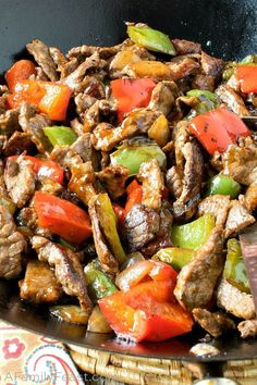 Our Asian Pepper Steak Bites combine tender, flavorful steak with red and green bell peppers in an amazingly delicious sauce. Chinese Soup Recipes, Asian Recipes, Beef Recipes, Ethnic Recipes, Pepper Recipes, Asian Foods, Yummy Recipes, Chili Garlic Sauce, Hoisin Sauce