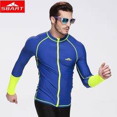 138a39cbe6c SBART 2016 New Swim Rash Guard Men Long Sleeve Swim Shirts Anti UV Rashguard  Tops with