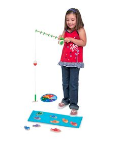 Melissa and Doug Catch and Count Magnetic Fishing Rod Set