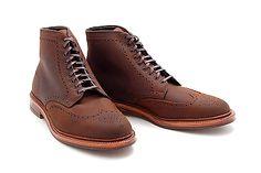 Alden x Leffot Greenwich Boot, Tobacco Chamois