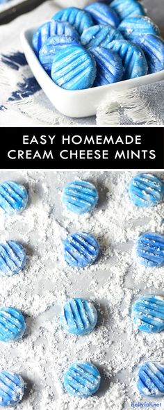 These Easy Cream Cheese Mints have a melt-in-your-mouth texture and a bright peppermint flavor. Super easy to make and perfect for gift giving. Customize the color to suit your holiday!