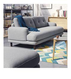 LAND 3-Sitzer-Sofa mit Bezug aus Wollfilz