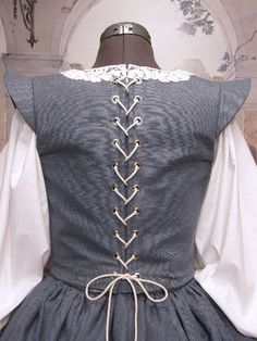 Blue back-faire finery