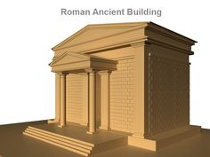 Roman Ancient Building 3D Model- Ancient Roman architecture adopted certain aspects of Ancient Greek architecture, creating a new architectural style. The Romans were indebted to their Etruscan neighbors and forefathers who supplied them with a wealth of knowledge essential for future architectural solutions, such as hydraulics and in the construction of arches. Later they absorbed Greek and Phoenician influence, apparent in many aspects closely related to architecture; for example, this can be seen in the introduction and use of the Triclinium in Roman villas as a place and manner of dining.    Surface Type Polygon  Texture No  Animation No    Verts - 100296  Edges - 194346  Faces - 97216  Tris - 194260  UVs - 134172     - #3D_model #Houses,#Landmarks,#Historical