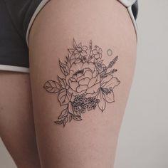 simple florals - tattoo people toronto - jess chen