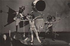 T. LUX FEININGER (attributed) Party of the Bockbierkandidaten, Bauhaus Dessau, 1927-28 vintage silver print, 9,3 x 14,1 cm #07155