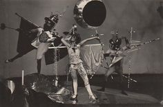 T. LUX FEININGER (attributed) Party of the Bockbierkandidaten, Bauhaus Dessau, 1927-28 vintage silver print, 9,3 x 14,1 cm #07155