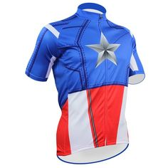Spider-man Captain America Design Ropa Bici Mujer Ciclismo Jersey Men Short Sleeve MTB Bike Jersey Top Cycling Shirt Many Choice #Affiliate