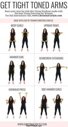Arm Workout for Women, tone arm workout, weights, gym, arm and back workout, dumbbell #WorkoutExercise