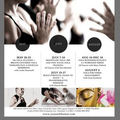 Yoga Events Flyer Design by Slbrown