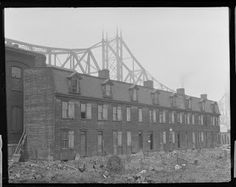 Mill houses at what is now Point State Park, 1917