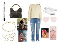 """Spending the day with my cousin"" by marsi98 ❤ liked on Polyvore featuring 3x1, Stila, Acne Studios, Lacoste, Louis Vuitton and Missoma"