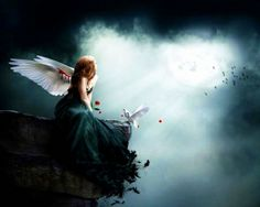 1000 images about angels fairies cherubs on pinterest wallpapers angel and fairies - Sad angel wallpaper ...