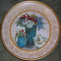 "Тарелка  ""Букет"". Handmade. Мастер Елена Сухенко."