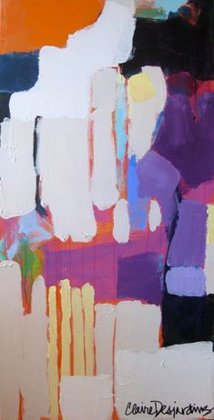 """""""What's for Breakfast?"""" by Claire Desjardins - 24""""x48"""" - Acrylics on canvas. 2010."""
