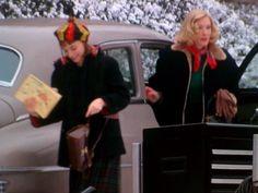 "Rooney Mara & Cate Blanchett on the set of ""Carol""."