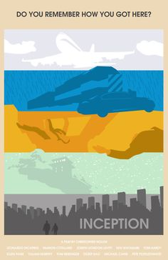 Inception (2010) ~ Minimal Movie Poster by David Andersson #amusementphile