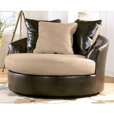 Ooh Plushy! Ashley Oversized Swivel Accent Chair - http://furnishamerica.com/chairs-and-recliners.aspx