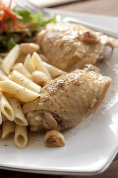 Rustic Chicken with Garlic Gravy | Wishes and Dishes