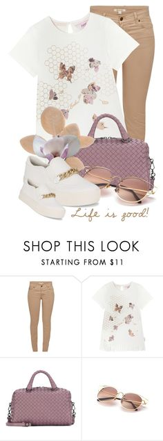 """""""Life is good...."""" by queenrachietemplateaddict ❤ liked on Polyvore featuring Barbour, Ted Baker, Bottega Veneta and Ash"""