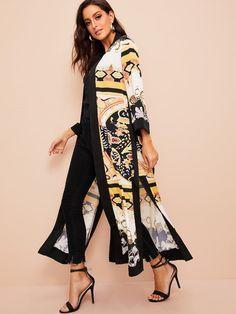 Pakistani Fashion Casual, Pakistani Dresses Casual, Abaya Fashion, Kimono Fashion, Women's Fashion Dresses, Casual Dresses, Mode Outfits, Chic Outfits, Mode Kimono