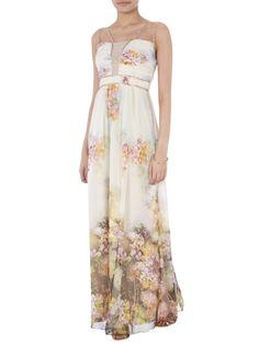 LITTLE-MISTRESS Abendkleid mit floralem Muster in Pseudo | FASHION ID Online Shop