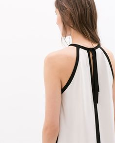 Image 5 of CONTRAST EDGE TOP from Zara