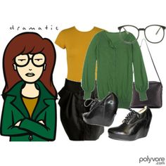 Oh Daria. I need a Jane Lane to dress up with me! Not to be a total snob, but she would have NEVER worn those shoes! I have the black combat boots, though! ;)