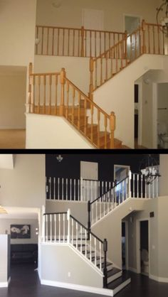 Amazing Stair Designs: Amazing Stair Designs   What Paint Can Do. I HATE  Oak Colored Anything!and I Love The Fresh Floors!