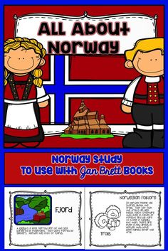 Norway Mini Unit Jan Brett Book Study Jan Brett and Norway Norway People, Norway Language, Pete The Cats, Author Studies, Unit Studies, Kindergarten Activities, Learning Activities, Teaching Ideas, Preschool