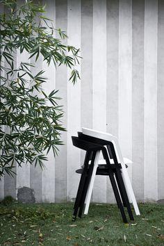 Compas chair design by Patrick Norguet for Kristalia #compas #stackingchair