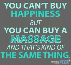 You can't buy happiness but you can buy a massage and that's kind of the same thing. Book your massage today at Blue Skies Massage & Wellness in Longmont, CO 720-475-6298 http://www.blueskiesmassage.com/