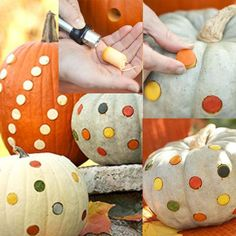 substitute flat-side glass marbles corks in pumpkins? yes, I think I will.