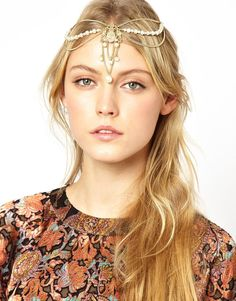 ASOS | ASOS Draping Faux Pearl Hair Crown at ASOS  My infield style for derby?! Switch it up but still dawn a head piece?!