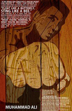 Muhammed Ali Poster  signed by artist Davis.