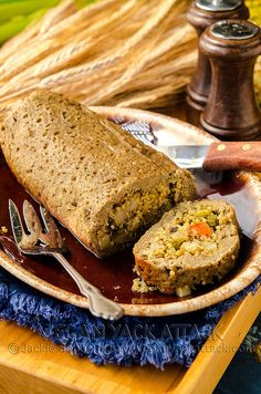 For you Holiday Table, Stuffed Seitan Roast by Yack_Attack, via Flickr (Scroll down for recipe)