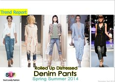My favorite type of denim will be in trend for the season !!!  distressed denim 2014  Cropped