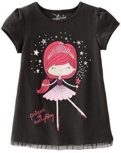 http://www.shopstyle.com: Jumping beans fairy ballerina babydoll tee - girls 4-7
