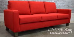 Handmade nontoxic modSquare sofa, from EcoBalanza, luxury handmade furniture maker based in Seattle